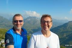 Auf dem Rüfikopf: Blick ins Lechtal