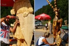 Holz-Schnitzer Ernst Schnöller bei der Arbeit