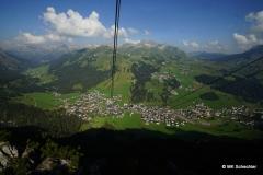 Mit der Seilbahn auf den Rüfikopf mit Blick auf Lech am Arlberg