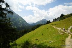 Panoramaweg über der Lechschlucht gen Warth